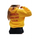 Hot Popular Letter Pattern Loose Leisure Long Sleeve Sports Hoodie