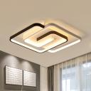 Crossed Frame Flush Ceiling Light Modernism Acrylic 18