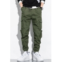 Men's Designer Fashion Solid Color Multi-pocket Trendy Cargo Pants