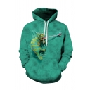 Mens Unique 3D Hoodie Animal Lizard Tongue out Pattern Pocket Drawstring Regular Fitted Long Sleeve Hooded Sweatshirt