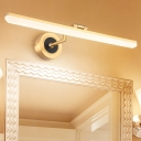 Straight Wall Mounted Light Simple Metallic LED Black/Gold Vanity Wall Lighting with Z-Shape Arm