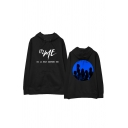 Casual Letter It'z Me Graphic Long Sleeve Drawstring Pouch Pocket Loose Hoodie