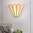 Pink Glass Up Flared Wall Light Sconce Modernism 1 Head Wall Mounted Lighting for Drawing Room