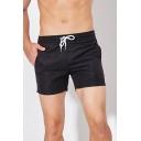 Popular Mens Striped Trim Elasticated Drawstring Waist Mid Rise Regular Fit Track Shorts