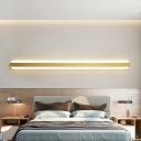 Linear Surface Wall Sconce Simplicity Metal LED Gold Wall Lamp in Warm/White Light, 12