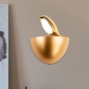 Magpie Living Room Wall Sconce Aluminum Cartoon LED Wall Mount Fixture with Half Dome Stand in Gold/Silver