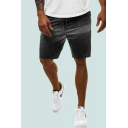 Retro Mens Ombre Drawstring Knee Length Loose Fit Lounge Shorts with Pockets