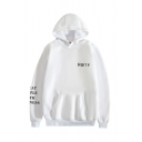 Stylish Rose Floral Letter Treat People With Kindness Graphic Printed Drawstring Kangaroo Pocket Long Sleeve Relaxed  Fit Hooded Sweatshirt