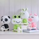Plastic Panda/Pig/Frog Desk Light Cartoon Style 1-Head Black/Pink/Green Task Lighting for Children Bedroom