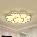 Inlaid Crystal Blossoming Ceiling Flush Modern 18