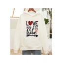 Popular Plaid Heart Arrow Letter Love My Ece Print Drawstring Kangaroo Pocket Long Sleeve Relaxed Fit Hoodie for Ladies