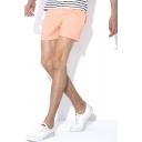 Stylish Mens Space Dye Elasticated Drawstring Waist Mid Rise Straight Fit Track Shorts