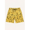 Mens Shorts Creative Whale Boat Rudder Pattern Drawstring Waist Regular Fitted Relaxed Shorts