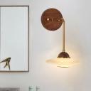 Brown Aircraft Wall Mounted Light Cartoon Style LED Opaline Glass Wall Lighting Ideas