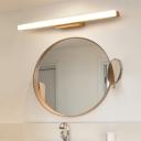 Linear Bathroom LED Vanity Lamp Acrylic Minimalist Wall Lighting in Beige, 16