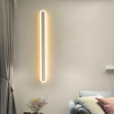 Acrylic Elongated Oval Wall Lighting Simple LED White Surface Wall Sconce in Warm/White Light