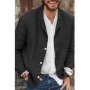 Mens Jacket Trendy Plain Cotton Linen Chest Pocket Button down Lapel Collar Long Sleeve Regular Fit Casual Jacket