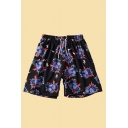 Novelty Mens Shorts Glove Lightning Printed Drawstring Waist Regular Fitted Relaxed Shorts