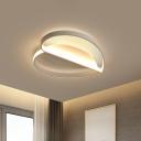 Acrylic Loving Heart Flush Light Fixture Cartoon Style LED White Ceiling Lighting in Warm/White Light