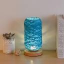 Kids Mini Capsule Hemp Rope Night Lamp USB Chargeable LED Table Lighting in Beige/Brown/Blue for Bedroom