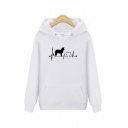 Guys Cool Running Leopard Animal Printed Long Sleeve Casual Fitted Hoodie