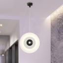 Disk-Like Metallic Ceiling Lamp Modernism 12