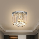 Round Crystal Prisms Ceiling Light Simple 8