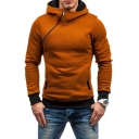New Stylish Simple Letter Faith Printed Sloping Zip Long Sleeve Regular Fit Hoodie for Guys