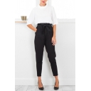 Women Mid Waist Chiffon Harem Pants Casual Pants Trousers