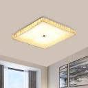 Crystal Round/Square LED Flushmount Minimalistic Flush Mount Ceiling Light in Chrome for Bedroom