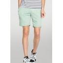 Casual Plain Elasticated Drawstring Waist Pocket Regular Fit over the Knee Length Track Shorts for Men