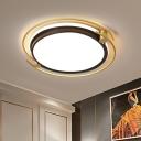 Acrylic Round/Square Ceiling Flush Mount Modern LED Flushmount Lighting in Gold for Bedroom