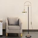 Sphere Floor Standing Light Simple Clear Glass 1 Head Black-Gold Floor Lighting