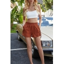 Sexy Womens White Spaghetti Straps Regular Fit Crop Cami Top & Relaxed Shorts Set