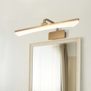 Curved Linear Washroom Wall Mounted Lamp Acrylic LED Modernist Adjustable Vanity Lighting in Gold, Warm/White Light