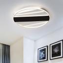 Metallic Round Ceiling Lighting Modern 16