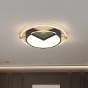 Acrylic Round Splicing Flush Light Fixture Modern 16