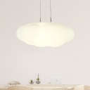 1/3/5-Light Kids Game Room Drop Pendant Macaron White LED Hanging Lamp with Cloud Plastic Shade