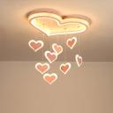 Cascading Loving Heart Ceiling Light Modern Romantic Iron Pink 21