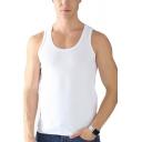Casual Men's Tank Top Plain Sleeveless Scoop Neck Slim Fit Track Tank Top