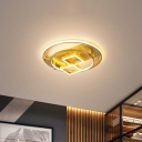 Acrylic Geometry Flush Mount Light Modernism LED Gold Flushmount Lighting for Bedroom