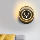 Kids Round/Square Flush Wall Sconce Acrylic 10