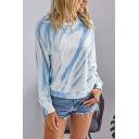 Popular Tie Dye Round Neck Long Sleeve Regular Fit T-Shirt for Women