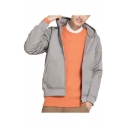 Classic Mens Jacket Plain Fleece Cuffed Zipper up Long Sleeve Regular Fit Hooded Casual Jacket with Pockets