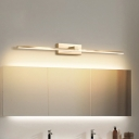 Gold Cylindrical Vanity Light Fixture Modern Style 23.5