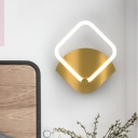 Diamond Wall Mount Lamp Fixture Modern Metal Gold LED Wall Sconce Lighting in Warm/White Light