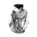 Mens Modern 3D Hoodie Animal Phoenix Eagle Lion Pattern Pocket Drawstring Regular Fitted Long Sleeve Hooded Sweatshirt