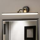 Acrylic Linear Vanity Lighting Ideas Modernist Black/Brass 18
