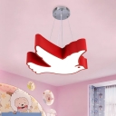 Acrylic Flying Bird Chandelier Lamp Cartoon Yellow/Red/Green LED Ceiling Pendant for Children Bedroom