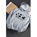 Letter Maybe Later Printed Long Sleeve Long Sleeve Hoodie With Pocket